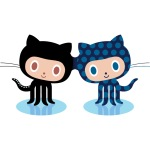 Joined at the head, two octocats attached
